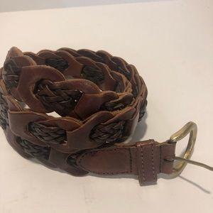 Boho Amiee Lynn Braided Leather Belt ML